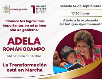 Adela Roman Ocampo y Su Primer Año de Gobierno ?