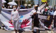 Red de Mujeres Unidas presente en la Marcha, para exigir medicamento para niños con cáncer